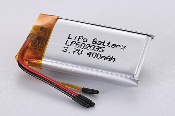 Lithium Polymer Batteries LP602035 3.7V 400mAh with 1.48Wh