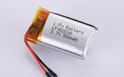 Hot Selling lithium polymer batteries LP902030 3.7V 500mAh with 1.85Wh
