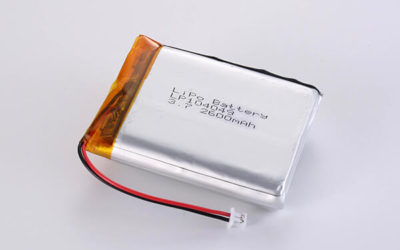 Standard lithium polymer batteries LP104049 2600mAh with 9.62Wh