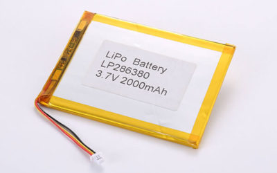 Standard lithium polymer batteries LP286380 2000mAh with 7.4Wh