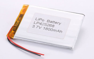 Rechargeable Lithium Polymer Batteries LP425268 3.7V 1800mAh with 6.66W