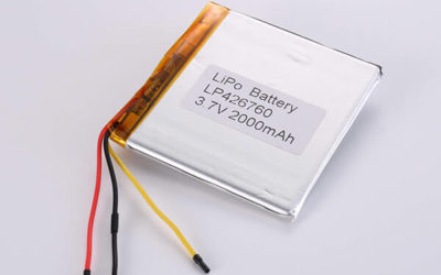 Standard lithium polymer batteries LP426760 2000mAh with 7.4Wh
