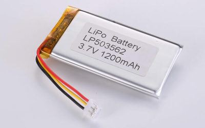 Rechargeable Lithium Polymer Batteries LP503562 3.7V 1200mAh with 4.44W