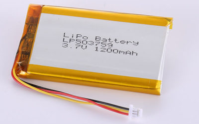 Hot Selling Lithium Polymer Batteries LP503759 1200mAh 4.44Wh