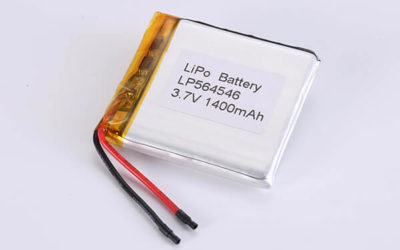 Rechargeable Lithium Polymer Batteries LP564546 3.7V 1400mAh with 5.18Wh