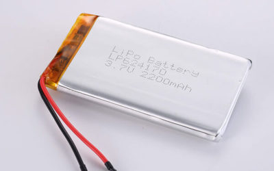 Standard lithium polymer batteries LP624170 2200mAh with 8.14Wh