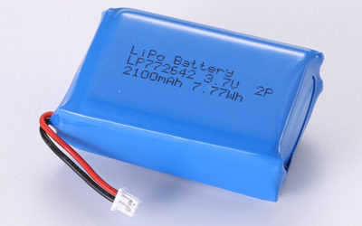 Hot Selling Lithium Polymer Batteries LP772642 2P 2100mAh 7.77Wh