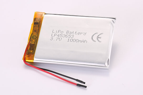 3.7V Hot Selling Multipurpose Rechargeable Lithium Polymer Batteries LP453653 1000mAh 3.7Wh