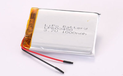 3.7V Hot Selling Multipurpose Rechargeable Lithium Polymer Batteries LP603450 1000mAh 3.7Wh