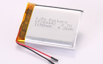 3.7V Hot Selling Multipurpose Rechargeable Lithium Polymer Batteries LP783442 1150mAh 4.26Wh