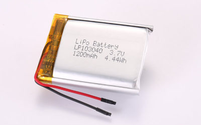3.7V Hot Selling Multipurpose Rechargeable Lithium Polymer Batteries LP103040 1200mAh 4.44Wh
