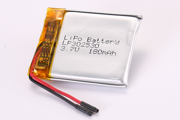 Hot Selling Rechargeable Lithium Polymer Batteries LP302530 180mAh 0.67Wh
