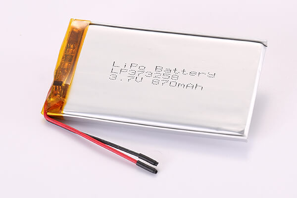 3.7V Standard Rechargeable Lithium Polymer Batteries LP373258 870mAh 0.3219Wh