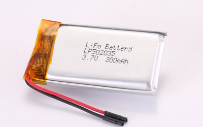 3.7V Rechargeable Hot Selling Lithium Polymer Batteries LP502035 300mAh 1.11Wh