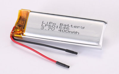 3.7V Rechargeable Lithium Polymer Batteries LP601646 400mAh 1.48Wh
