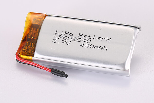 3.7V Rechargeable Lithium Polymer Batteries LP602040 450mAh 1.665Wh