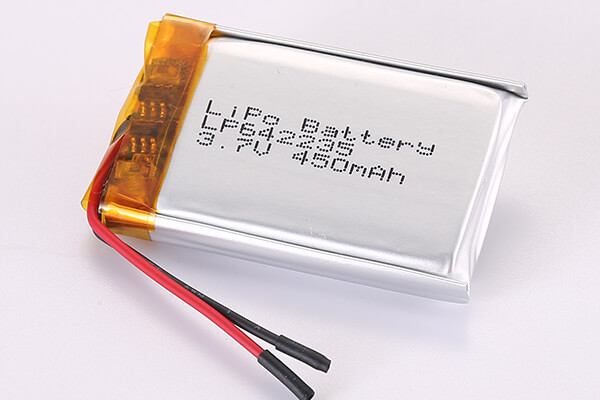 3.7V Rechargeable Lithium Polymer Batteries LP642235 450mAh 1.665Wh