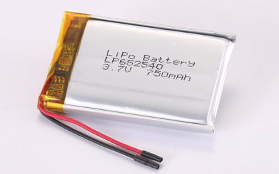 3.7V Standard Rechargeable Lithium Polymer Batteries LP652540 750mAh 2.775Wh