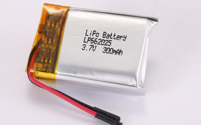 3.7V Rechargeable Hot Selling Lithium Polymer Batteries LP662025 300mAh 1.11Wh