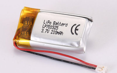 3.7V Rechargeable Lithium Polymer Batteries LP701525 210mAh 0.777Wh