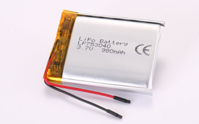 3.7V Rechargeable Lithium Polymer Batteries LP753040 980mAh 3.626Wh