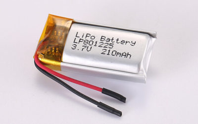 3.7V Rechargeable Lithium Polymer Batteries LP801225 210mAh 0.777Wh