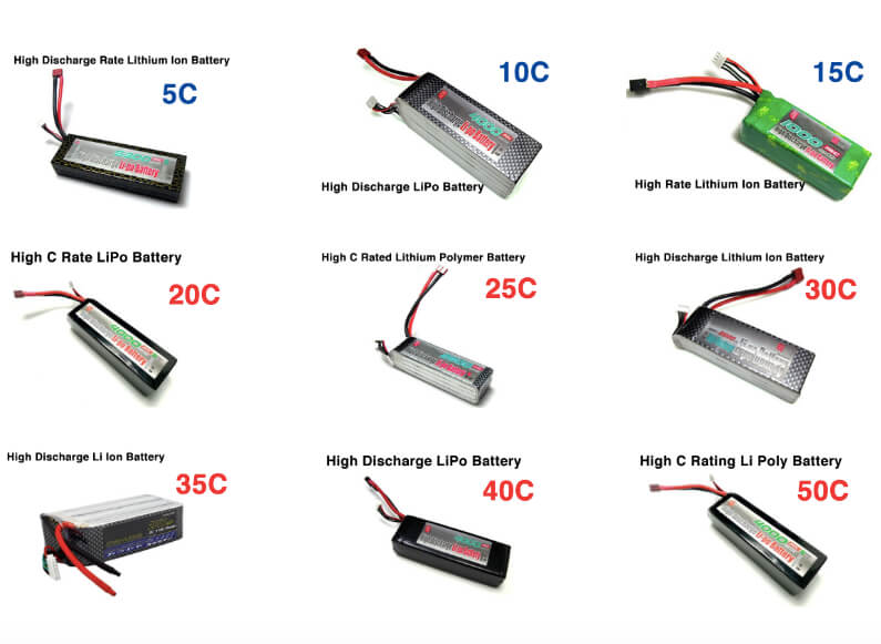 RC discharge lipo battery