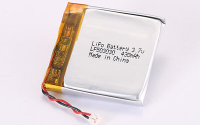3.7V Rechargeable Lithium Polymer Batteries With JST ACHR-02V-S-B LP503030 430mAh 1.591Wh