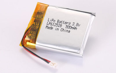 3.7V Rechargeable Hot Selling Lithium Polymer Batteries With JST ACHR-02V-S LP612528 500mAh 1.85Wh