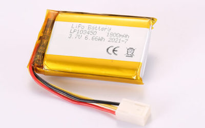 3.7V Hot Selling Multipurpose Rechargeable Lithium Polymer Batteries With Molex 2510-3P LP103450 1800mAh 6.66Wh