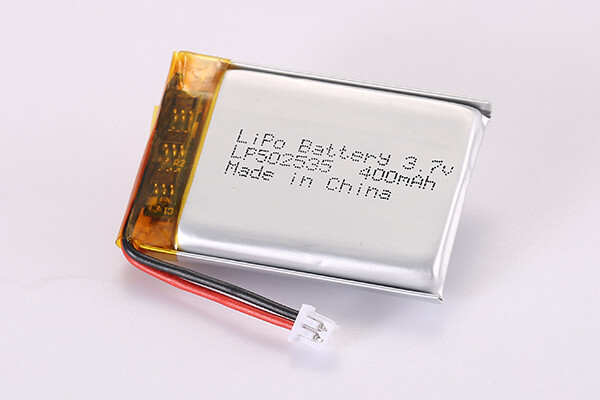 3.7V Rechargeable Lithium Polymer Batteries With Molex 51021-0200 LP502535 400mAh 1.48Wh