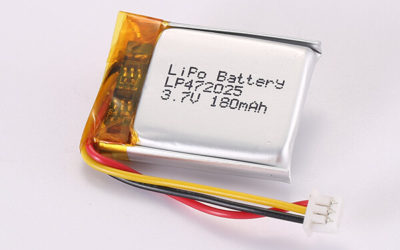 Hot Selling Rechargeable Lithium Polymer Batteries With Molex 51021-0300 LP472025 180mAh 0.67Wh