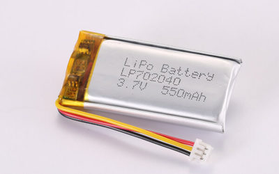 3.7V Rechargeable Hot Selling Lithium Polymer Batteries With Molex 51021-0300 LP702040 550mAh 2.035Wh