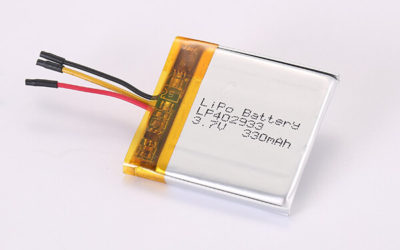 3.7V Rechargeable Hot Selling Lithium Polymer Batteries With NTC LP402933 330mAh 1.221Wh