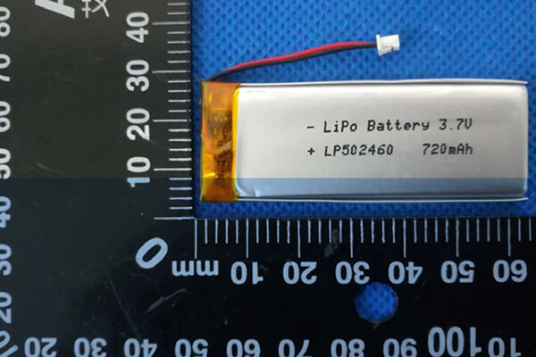3.7V Rechargeable Lithium Polymer Batteries LP502460 720mAh